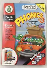 LeapPad Phonics 3 Short Vowels E O Pre K to 1st Grade Interactive Book Cartridge