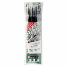 Sakura Pigma Zentangle Apprentice - Pen Set (05/05/10) - Black ink - Pack of 3