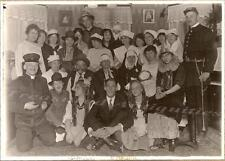 1910s Pre-WWI War Prophecy Traveling Theatre Co Play Actors Cast Costumes Photo