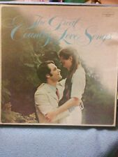 VTG.1970'S RECORD ALBUMS,THE GREAT COUNTRY LOVE SONGS, 4 RECORD SET
