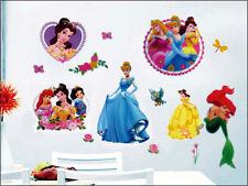 DISNEY PRINCESS CINDARELLA BELLA ADDORMENTATA BELLE Muro Adesivo Nursery Kids Room