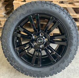 """Genuine Land Rover Discovery 4 19"""" Alloy Wheels & Good Year Duratrac Tyres x4"""