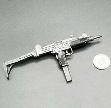 "1:6 Dragon Uzi Submachine Gun w/ Folding Stock 12"" GI Joe BBI 21st Toys Police"