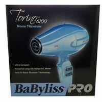 NEW BABYLISS PRO NANO TITANIUM 6100 TORINO 2000 WATT HAIR BLOW DRYER BABNTB6160N