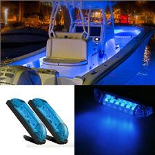 "New listing 2X Blue 4"" Car Boat Rv 6 Led Light Strip Waterproof 12V Marine Accent Lighting"