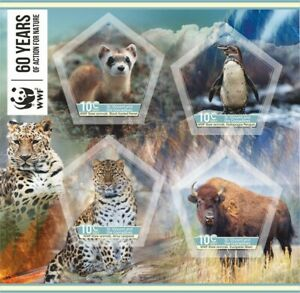 Stamps  Fauna 2021  60 years WWF imperforated