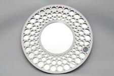 Large Round White Retro Wall Hanging Modern Mirror Decorative Circle 62 cms