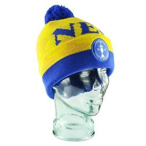 Everton Bobble Hat NEC Yellow & Blue Woven Patch Gift Souvenir
