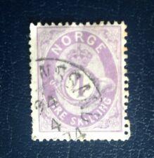 Norway 1872 4 skill. violet stamp Cat. Value £52