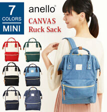 ANELLO Denim Canvas Big Mouth Mix Color Mini Rucksack Backpack AT-B0935B REAL