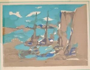 "Marcel Mouly Lithograph ""Amsterdam"", Signed, Numbered, 18.5 x 25, PA5815"