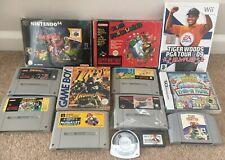 Big Nintendo Games Bundle - N64 SNES Famicom Gameboy Advance DS Wii PSP - Mario