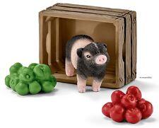 SCHLEICH®  Farm Life 42292   Mini-Schwein mit Äpfeln, NEU & OVP