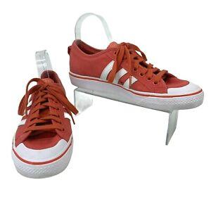 Adidas Nizza Sneakers Men's Size 8.5 Nectarine Orange Low Top Fashion Shoes