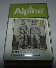 Alpine Miniatures 1/35 Modern US AFV Crew Set  Resin Figures #35071