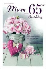 Beautiful Greeting Card For A Wonderful Mum On Your 65th Birthday