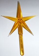 GOLD LARGE PLASTIC STAR CERAMIC CHRISTMAS TREE TOPPER ORNAMENT CRAFT SUPPLIES