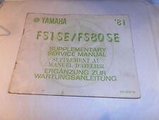 YAMAHA FS1 SE FS80 SE GENUINE SERVICE SUPPLEMENT MANUAL 81