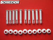 Intex 10 Stück Stift + Gummiring Splint Pin Frame Pool 457 549 305 366 60mm 6 cm