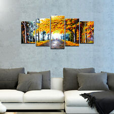 Canvas Wall Art Print Painting Pic Home Decor Autumn Forest Landscape Framed
