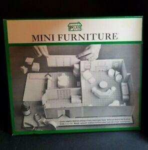 Mini Furniture Plan It Kit 3 Dimensional Vintage
