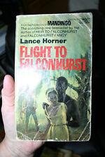 FLIGHT TO FALCONHURST BY LANCE HORNER BLACK MAN'S TERROR IN A WHITE MAN/S BODY