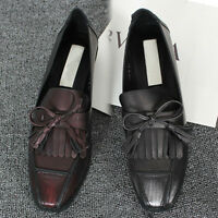 New Women Fashion Oxfords Shoes Low Heel Leather US Size 6 6.5 7 7.5 8 #2-901 s
