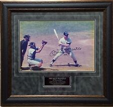MICKEY MANTLE NY Yankees Signed Autographed 12X18 Color Photo FRAMED - JSA LOA