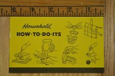 Vintage Yellow Pages Advertising Booklet Household How To Do Its Telephone