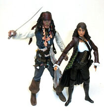 "Disney Pirates of the Caribean Movie JACK SPARROW  &  ANGELICA 6"" figure set"