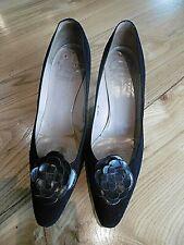 Christian Dior Escarpins vintage Daim noir Taille 7 1/2