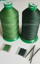 Kit Upholstery Green Thread & Needle Hand sewing nylon thread Upholstery&Craft