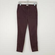 NWT J.Crew Women's Skinny Cargo Pants 27 Cotton Stretch Ankle Zippers Aubergine