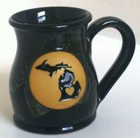 Deneen Handcrafted Pottery Ceramic Stoneware State Michigan Coffee Mug Cup Tea