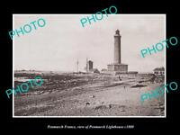 OLD LARGE HISTORIC PHOTO OF PENMARCH FRANCE, THE PENMARCH LIGHTHOUSE c1880