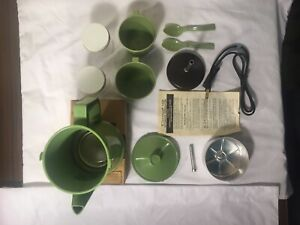 Cornwall Coffee Percolator Auto Green 4 Cup Electric Travel KOFFEEKIT Leather