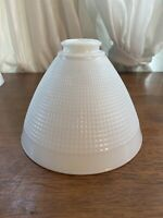 Corning 820120 White Milk Glass Lamp Diffuser Torchiere Shade Waffle 8""