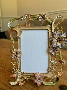 Jay Strongwater Floral & Scroll 4 x 6 Frame
