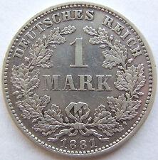 TOP! 1 Mark 1881 D en presque EXCELLENT RARE