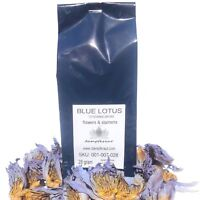 BLUE LOTUS 28 grams crushed flowers  (Nymphaea caerulea) ANTI STRESS