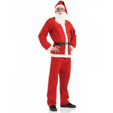 Santa suit Claus Christmas Costume Suits 5 pc Set Mens Father Fancy Dress Adult