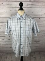 LACOSTE Short Sleeved Shirt - Size Medium - Check - Great Condition - Mens