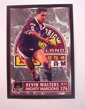 Kevin Walters 1994 Queensland State of Origin Signed Dynamic Rugby card #176