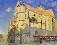 The Church At Moret Alfred Sisley Fine Art Giclee Print on Canvas Repro Small