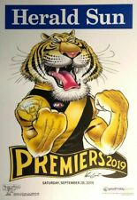 2019 AFL RICHMOND PREMIERSHIP POSTER MARK KNIGHT HERALD SUN WEG