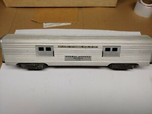 2530 Lionel Lines Aluminum Baggage Car --- FOR PARTS OR REPAIR ---