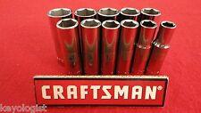 """CRAFTSMAN Socket Set 3/8"""" drive MM METRIC 6pt DEEP 11pcs LASER ETCHED"""