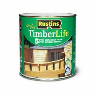 Rustins Timberlife Water Repellent Exterior Wood Garden Shed Protection - 1L