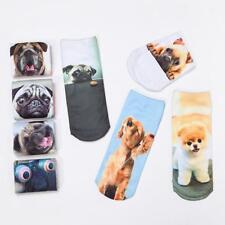 Fashion Cute Unisex Ankle Socks Low Cut Casual Dog Animal Print