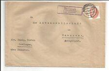 DR / Brelingen ü Hannover, viol. Ra2 auf Dienstbrief m. D 129 1933